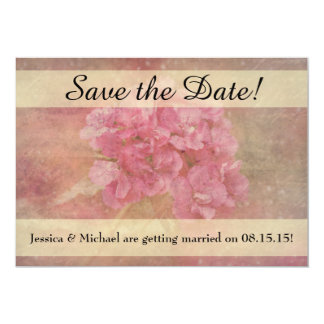 Pink Flower Bouquet Save the Date Card w/ Envelope