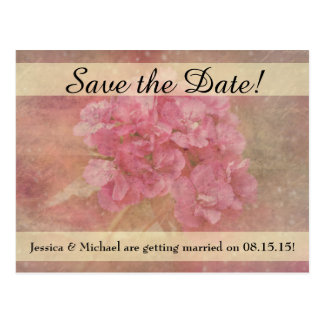 Pink Flower Bouquet Save the Date Postcard