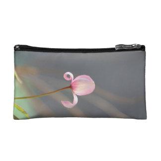 Pink Flower Bud Cosmetic Bag