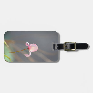 Pink Flower Bud Travel Luggage Tag
