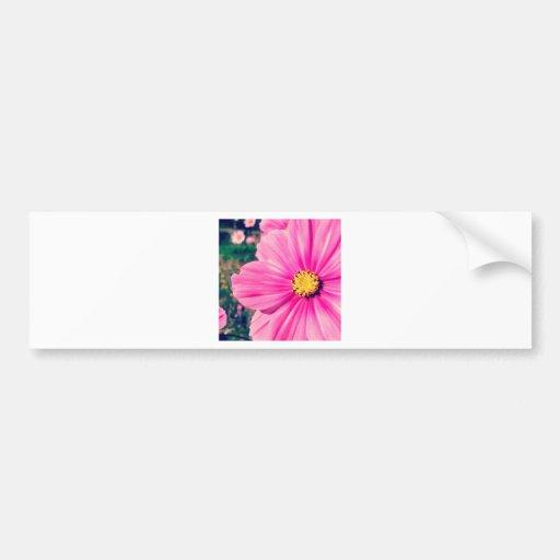Pink Flower Bumper Sticker