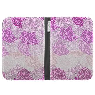 "Pink ""Flower Burst"" Case Kindle Keyboard Covers"