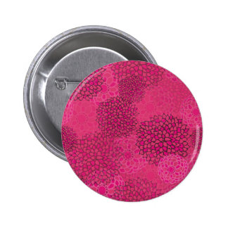 Pink Flower Burst Design 2 Inch Round Button