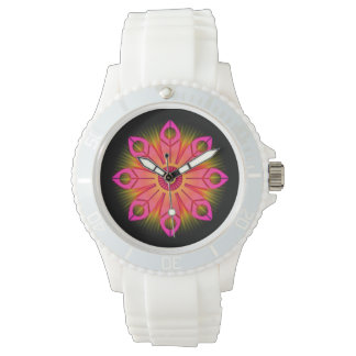 Pink Flower Burst Watch