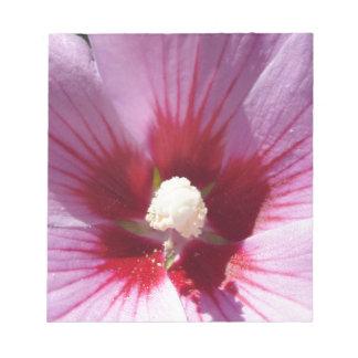 Pink Flower Center Notepad