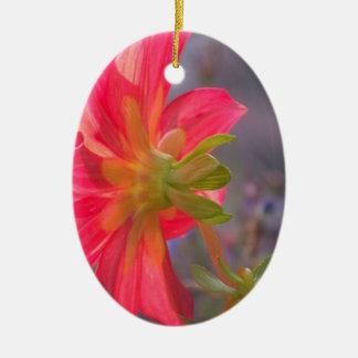 Pink Flower Ceramic Ornament