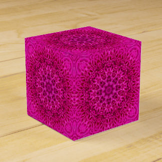 Pink Flower Classic 2x2 Favor Box