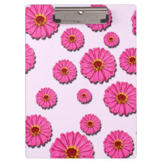 PINK FLOWER CLIPBOARD