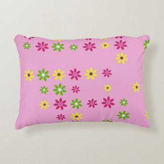 Pink Flower Confetti Accent Pillow