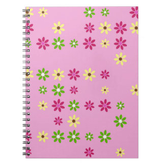 Pink Flower Confetti Notebooks