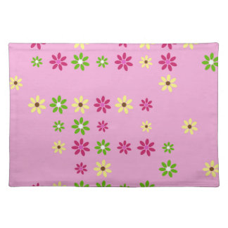 Pink Flower Confetti Placemat
