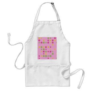 Pink Flower Confetti Standard Apron