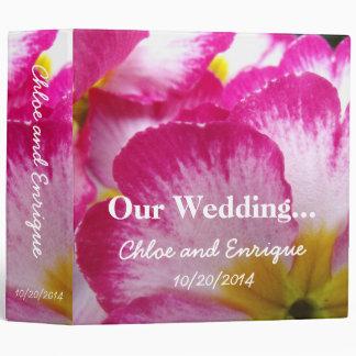 Pink Flower Custom Wedding Photo Binder