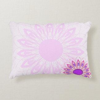 pink flower decorative pillow