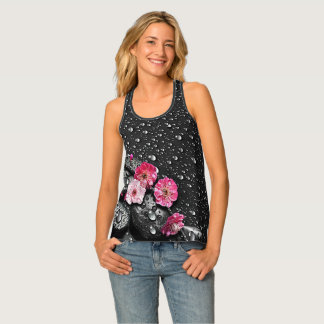 Pink Flower Dew Tank Top