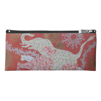 pink flower elephant pencil case
