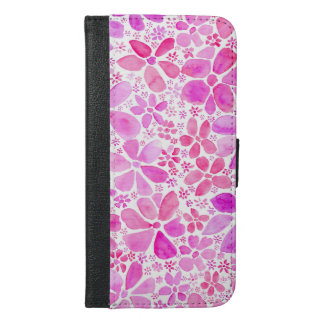 Pink Flower Floral iPhone 6 Plus Wallet Case