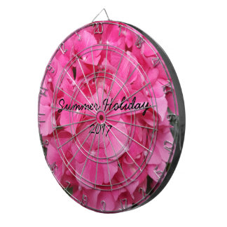 Pink Flower Floral Photography Nature Dartboard