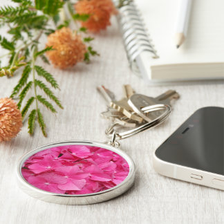 Pink Flower Floral Photography Nature Keychain