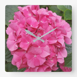 Pink Flower Floral Photography Nature Square Wall Clock