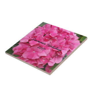 Pink Flower Floral Photography Nature Tile