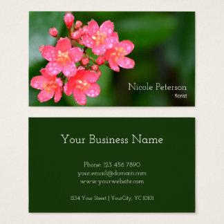 Pink flower - florist business card