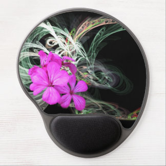 Pink Flower Fractual Gel Mouse Pad