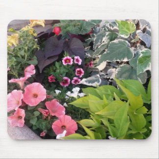 Pink Flower Garden Mouse Pad
