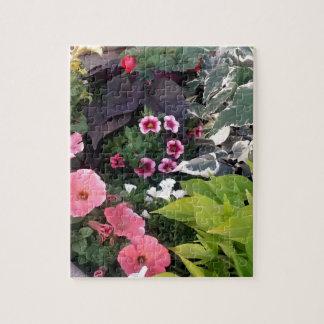 Pink Flower Garden Puzzle