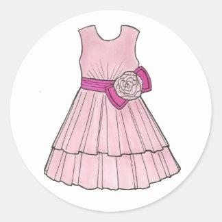 Pink Flower Girl Dress Bridal Wedding Stickers