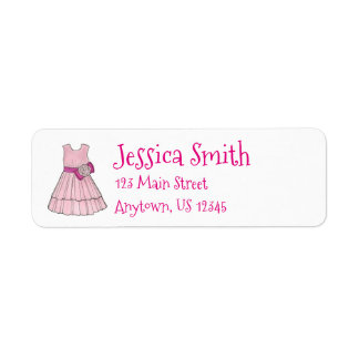 Pink Flower Girl Wedding Pageant Party Dress Label