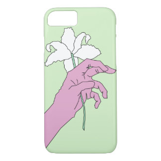 Pink Flower Hand iPhone 7 Case