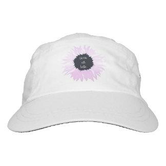 Pink flower headsweats hat