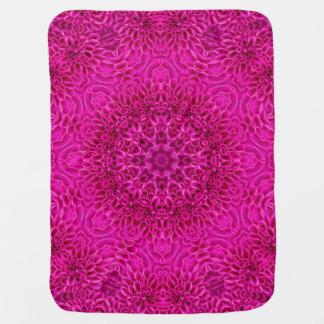 Pink Flower Kaleidoscope  Baby Blankets