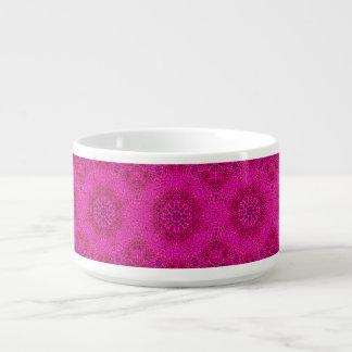Pink Flower Kaleidoscope   Chili Bowls