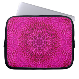 Pink Flower Kaleidoscope  Neoprene Laptop Sleeves