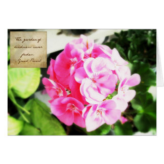 Pink Flower & Kindness Proverb Card