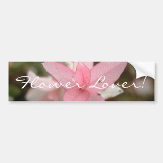Pink Flower Lover Bumper Sticker