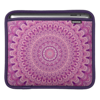 Pink flower mandala iPad sleeve