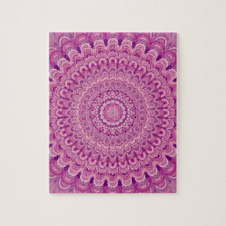 Pink flower mandala jigsaw puzzle