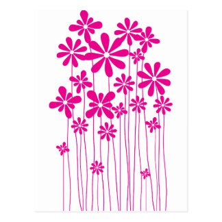 Pink Flower Meadow Postcard