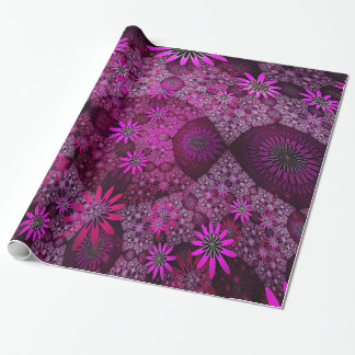 Pink Flower Meadows Wrapping Paper
