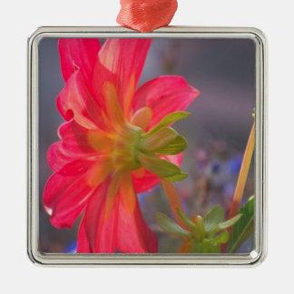 Pink Flower Metal Ornament