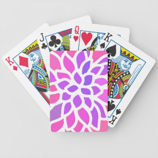 Pink Flower Modern Girly Bicycle Playing Cards