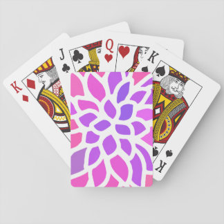 Pink Flower Modern Girly Poker Deck