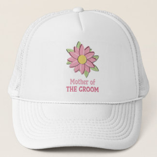 Pink Flower Mother of the Groom  Trucker Hat