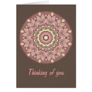 Pink Flower of Love - Mandala Card
