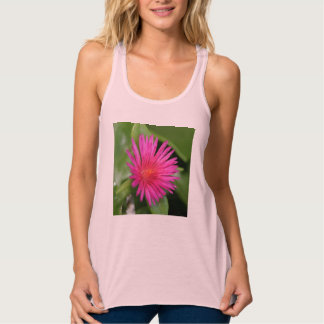 Pink Flower of Succulent Carpet Weed Tank Top
