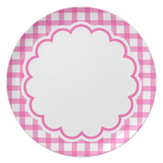 Pink Flower Party Plate