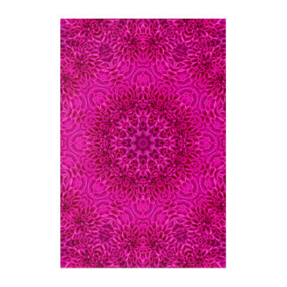 "Pink Flower Pattern Acrylic Wall Art, 24"" x 36"" Acrylic Print"